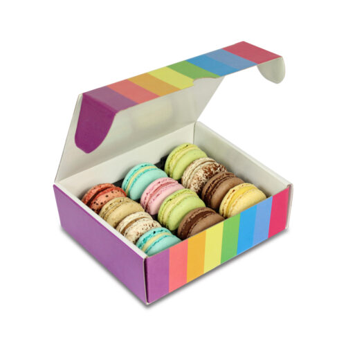 Foto Scatola MacaRAL 12pz Arcobaleno 500x500 - Limited Edition - MacaRAL in luxury box da #12pz