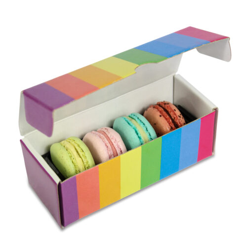 Foto Scatola MacaRAL 4pz Arcobaleno 4 500x500 - Limited Edition - MacaRAL in luxury box da #4pz