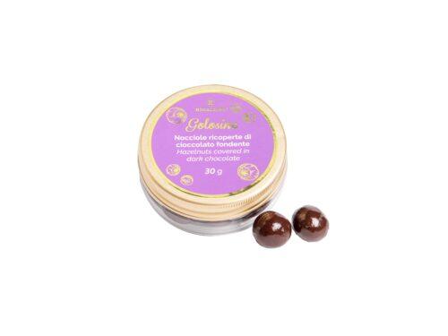 Golosine Nocciole Ricoperte Di Cioccolato Fondente