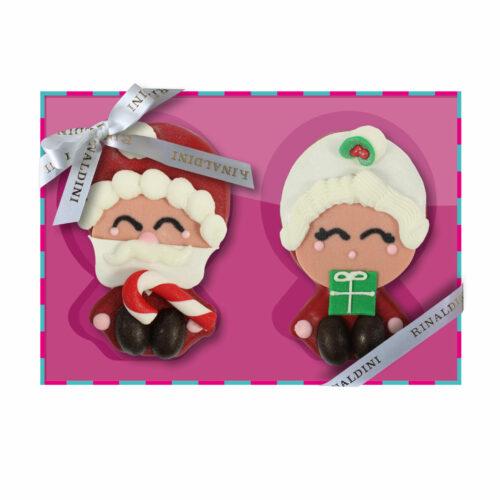 Coppia Biscotto Babbo e Mamma Natale